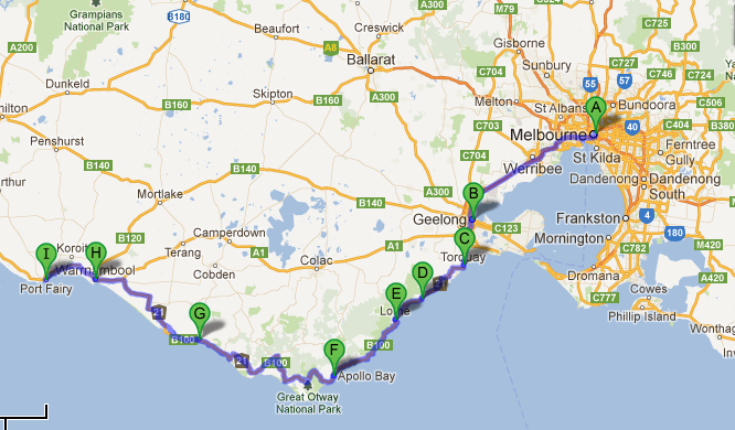 Driving the Great Ocean Road and beyond  will travel for food and